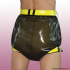 Culotte en latex verrouillable - KINKY DIAPERS
